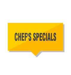 Chefs specials price tag vector