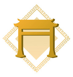 Chinese golden gate vector