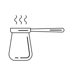 Coffee turk line icon vector