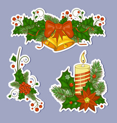 Colorful cartoon of christmas bells vector
