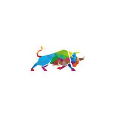 creative buffalo logo vector image