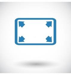 Deploying video icon vector