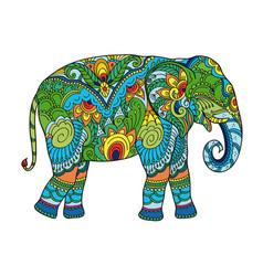 drawing stylized elephant vector image