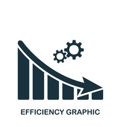 Efficiency decrease graphic icon mobile app vector
