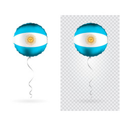 foil round shaped balloons in as argentina vector image