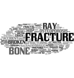 Fracture word cloud concept vector