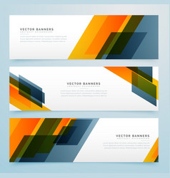 Geometric business banners set design vector