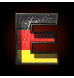 Germany cutted figure e vector