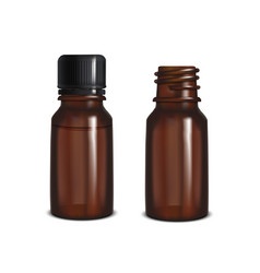 glass bottles mock up vector image