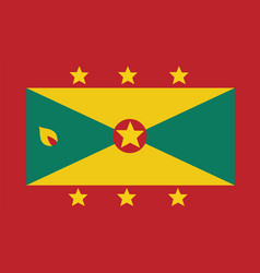 grenada flag for independence day and infographic vector image