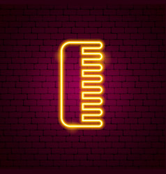 hairbrush neon sign vector image