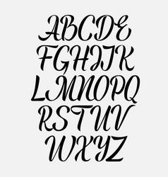 handwritten aphabet hand drawn lettering vector image