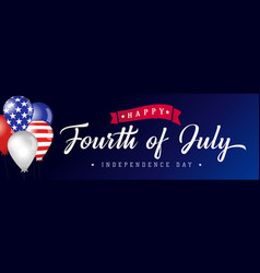 Happy fourth july usa blue poster vector