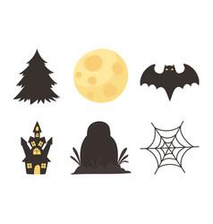 happy halloween trick or treat party castle vector image