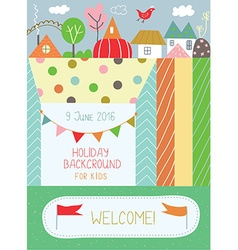Holidays background for kids for birthday or vector image vector image