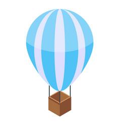 Hot air ballon icon isometric style vector