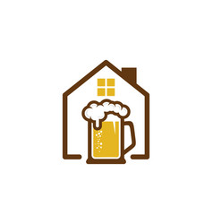 House beer logo icon design vector