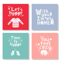 hygge is a danish living concept valentines day vector image