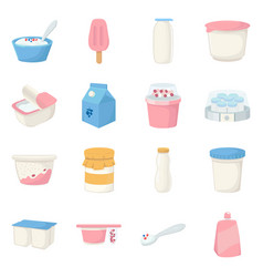 isolated object dairy and fresh icon vector image