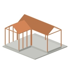 Isometric house architecture model design vector