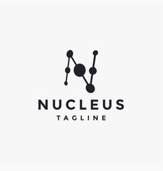 letter n for nucleus loo icon template vector image