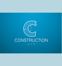 logo template letter c in style a vector image