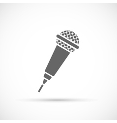 Microphone icon on white background vector image