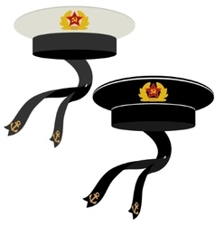 Military headgear Soviet Navy vector