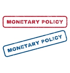 Monetary Policy Rubber Stamps vector