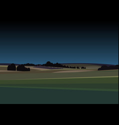 night landscape lovely rural nature vector image