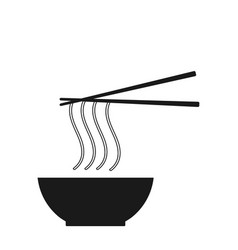 noodle icon on the white background vector image