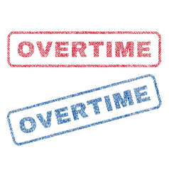 overtime textile stamps vector image