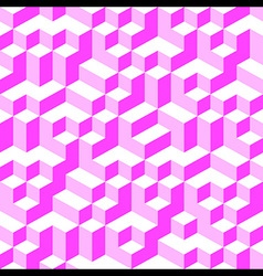 Pink Geometric Volume Seamless Pattern Background vector