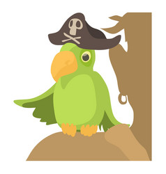 Pirate parrot icon cartoon style vector