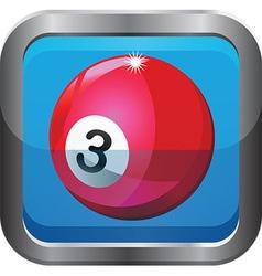 Pool ball icon vector