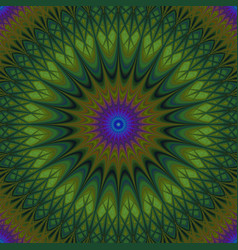 Psychedelic mandala fractal background vector