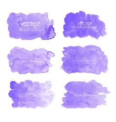 Purple watercolor background pastel watercolor vector