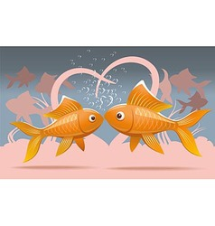 Romantic fish vector