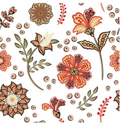 seamless floral design with hand-drawn simple vector image
