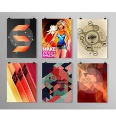 Set of poster flyer brochure design templates vector