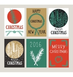 set xmas cards vector image