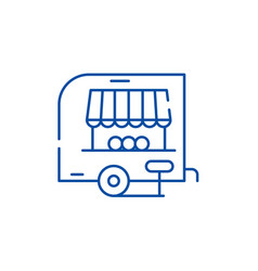 shop pickup line icon concept shop pickup flat vector image