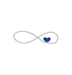sign infinity and heart and and and european vector image