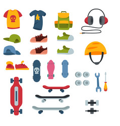 skateboarder active sport tools extreme outdoor vector image