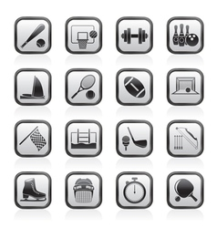 Sport objects icons vector image