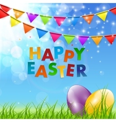 Spring Natural Happy Easter Background vector image vector image