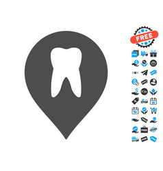 Stomatology marker icon with free bonus vector