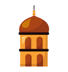 temple dome architecture vector image