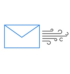 The envelope with the mail icon vector