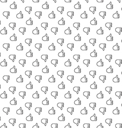 Thumb up thumb down seamless pattern vector